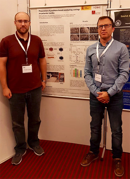 97231ef209b Horacio Salavagione and Peter Shuttleworth presented some recent results on  graphene-based conductive coatings for polyester ...